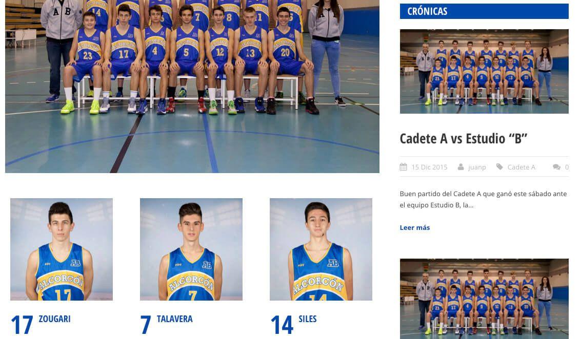 nueva web alcorcon basket