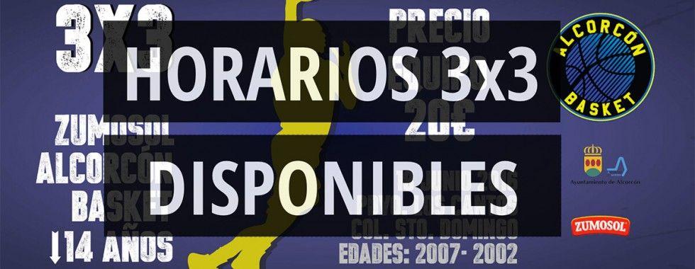 HORARIOS 3X3