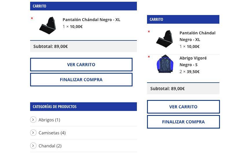 carrito de compra tienda online ab