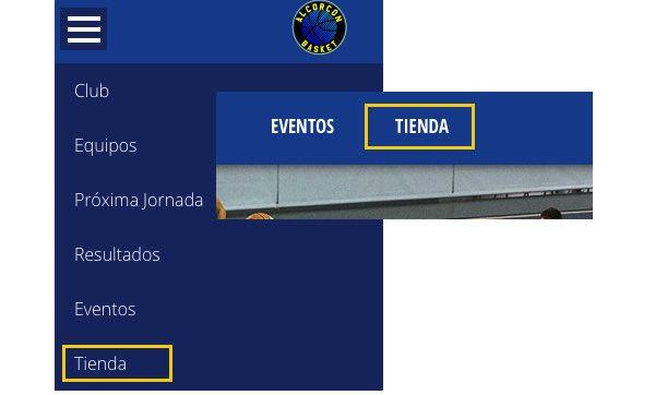 acceder tienda online alcorcon basket