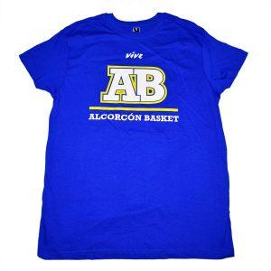 camiseta algodon ab azul