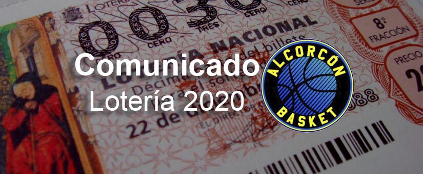 comunicado loteria navidad 2020